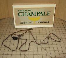 """Vtg 12"""" Champale Lighted Bar Top Display Sign, It Works! Blinking Color Lights"""