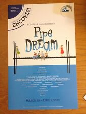 PIPE DREAM Encores! WILL CHASE (SMASH) LESLIE UGGAMS Window Card Poster MINT