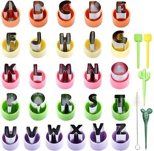 Magigift 1'' Mini Alphabet Cookie Cutters Set,26-Piece Stainless Steel Letter...