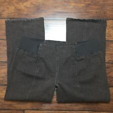 DG2 Diane Gilman Pull On Jeans Size P3X Petite Brown Stretch Elastic Waistband