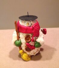 """Vintage Midwest Of Cannon Falls Snowman Candle Holder 5x7""""H Very Good!"""