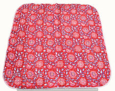 Indian Kantha Baby Quilt Traditional Cotton Blanket Reversible Toddler Bedspread