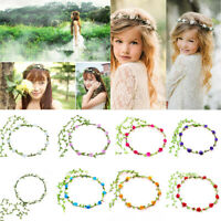 Boho Flower Headband Head Garland Hair Band Crown Wreath Festival Hippy Wedding