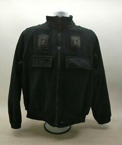Fleece Black Jacket Uniform Patrol Duty Security Officer Winter Walking Grade 1
