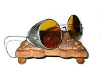 Antique Amber Willson Sunglasses Goggles Spectacles Vtg Steampunk Safety Glasses