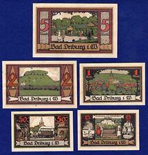 Alemania, Bad Driburg, Westfalia, 1921 5x Notgeld, billetes (ref. t1510)