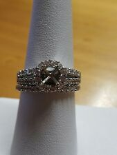 925 sterling silver wedding ring set cz size 8 cubic zirconia store sample