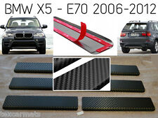 BMW X5 E70 2007-2013 Travesano de la Puerta con Fibra de Carbono Stainless Steel
