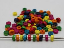 1000 Mixed Color 6X3mm Wood Column Heishi Beads~Wooden Beads
