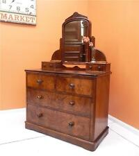 RARE Antique Burr Walnut ~Dressing Table~Chest of Drawers~  resawreck-antiques