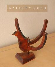 MID CENTURY MODERN SCULPTURE CANDLE HOLDER! 1950'S REDWOOD BIRD EAMES ERA ATOMIC
