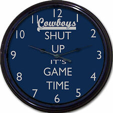 Dallas Cowboys Football Shut Up It's Game Time Wall Clock NFL Tony Romo Man Cave