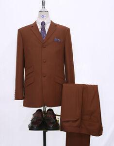 Mos,Ska,Vintage 60s Style Burnt Orange Mohair Suit