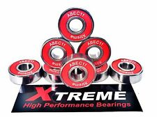8 Pack 608 RS XTREME ABEC 11 REDS HIGH PERFORMANCE BEARINGS SKATEBOARD LONGBOARD