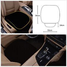 1 X Four Season Linen Fabric Black Car Vehicle Front Seat Cushion Pad Universal