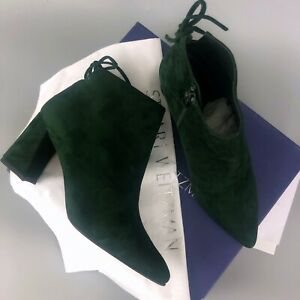 NEW Stuart Weitzman Suede Leather Grandiose Ankle Booties Shoes Size 38