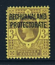 BECHUANALAND PROTECTORATE QV 1897 3d. Purple on Yellow OVERPRINTED SG 63 MINT