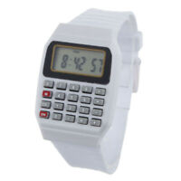 Multi-Purpose Girls Boys Electronic Calculator Watch Silicone Band Wrist Watch