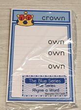 The Blue Series - Rhyme a Word Wipewriter (30 Cards) Montessori