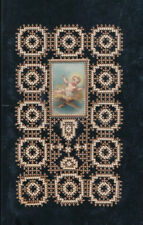 Spitzen-Heiligenbild Jesus Kind in der Krippe    (HB5)