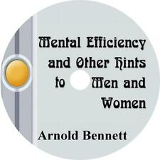 Mental Efficiency and Other Hints, Arnold Bennett How-To Audiobook on 1 MP3 CD