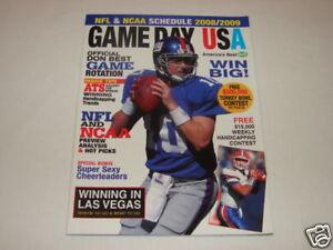 Game Day USA Magazine Eli Manning New York Giants Football 2008 Issue