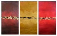 ABSTRACT Original 3 panels / FRAMED - Large 79x118cm