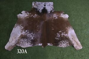 """New Cowhide Rugs Hair On COW HIDE Rugs Area Cow Skin Leather Rugs (48"""" x 50"""")"""