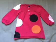 Toddler Girl Size 2 2T Baby Gap Pink Mod Dotted Long Sleeve Dress