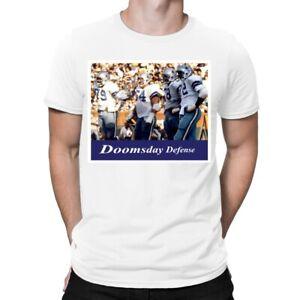 NFL Dallas Cowboys Doomsday Defense White T-Shirt 100% Cotton men sz XL NEW