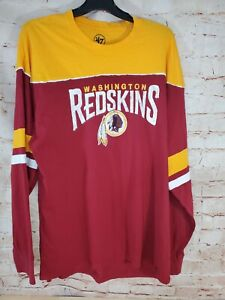 Washington Redskins 47 Brand XL Long Sleeve Shirt Retro Throwback Jersey!