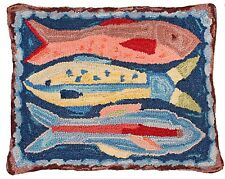 "16x20"" Hooked Fish Pillow"