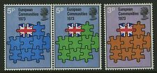 Great Britain   1973   Scott # 685-687a    Mint Never Hinged Set