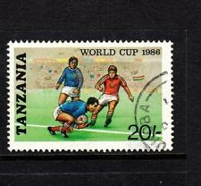 Tanzania stamp 1986 Football World Cup 20s scarce