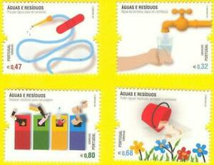 PORTUGAL WATER AND WASTE - AGUA E RESIDUOS - 4 MNH STAMPS SET - 2011