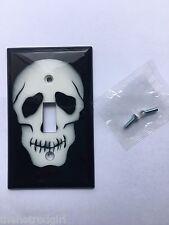 Skull Light Switch Cover - Black