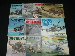 Lot of 10 Squadron/Signal Publications Aircraft Series 1988-1995