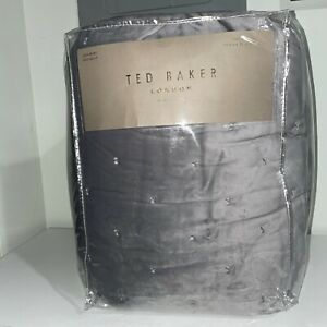 Ted Baker London Velvet Bow Full/Queen Quilted Coverlet - Gray