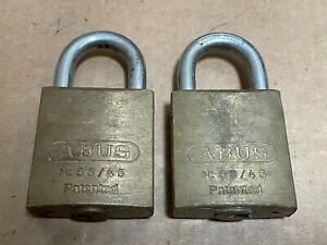2x ABUS 83/45 Brass Padlocks ZB