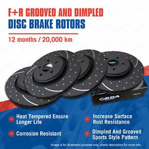 Front + Rear Slotted Disc Brake Rotors for Mazda Mazda 3 BK BL 2.3L 2.2L