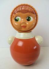 2 X Lindo figurillas de cerámica Roly Poly ruso Muñecas Estilo Ornamento Home Deco IVA