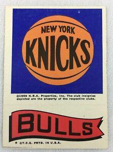 NBA 1973 Topps Basketball Insert - New York Knicks - Bulls