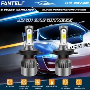 CREE COB H4 HB2 9003 2105W 315750LM LED Headlight Set Hi/Lo Power Bulbs 4300K