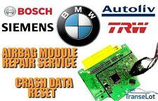 BMW AIRBAG ECU SRS ECU AIRBAG MODULE CRASH DATA RESET REPAIR SERVICE