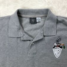 Vtg Warner Brothers Bugs Bunny Suit Carrot Shirt Sz XL Gray Short Sleeve Tee