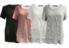 Cotton Crew Neck Plus Size Basic T-Shirts for Women