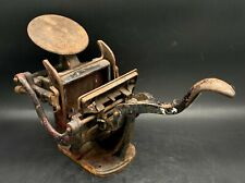 Antique Miniature Cast Iron Table Top Letter Printing Press 17 1/2 X 7 X 9 1/4