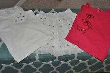 EUC The Children's Place Girls Size 5 6 White Skirt Tulle Silver Sequins Tank To
