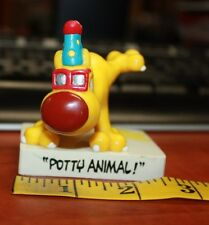 Grimmy Potty Animal Figure 1989 Mother Goose & Grimm yellow dog free shipping Us