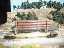 N Scale Brass Log Car with load